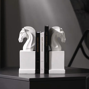 Vicky Yao Table Decor - Handmade Luxury Pair of Horse Bookends