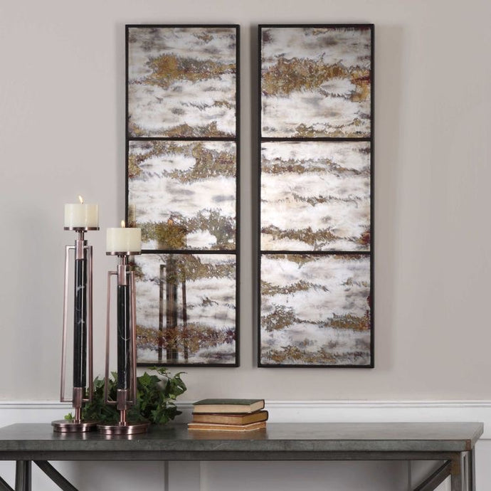 Vicky Yao Wall Decor - Rahila Mirrored Wall Panels S/2