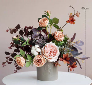 Vicky Yao Faux Floral - Exclusive Design Rose Cotton Country Flower Arrangement