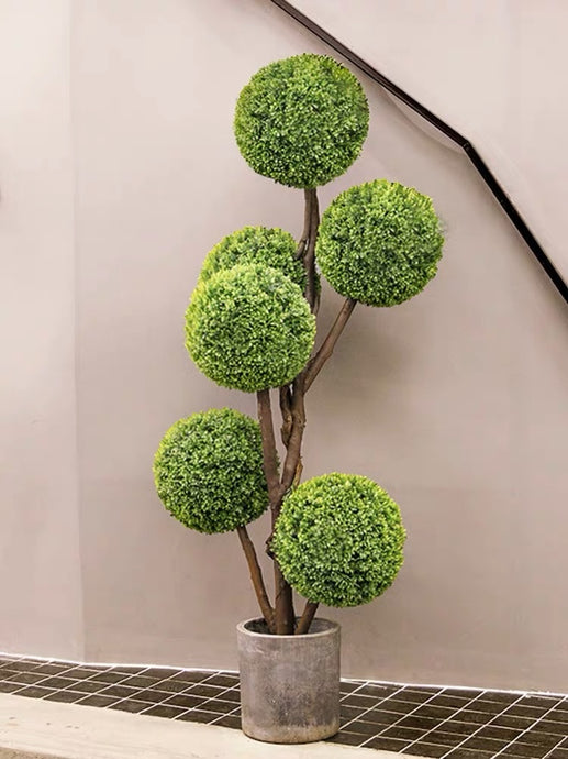 Vicky Yao Faux Plant - Exclusive Design British Style Indoor/Outdoor Artificial Potted Plant Tree