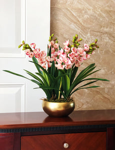 Vicky Yao Faux Floral - Exclusive Design Real Touch Artificial Cymbidium Orchid Flower Arrangement