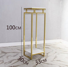 画像をギャラリービューアに読み込む, Vicky Yao Luxury Furniture - Exclusive Design Luxurious Marble Stainless Steel Three-Piece Flower Pot Stand /Display Stand