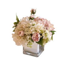 画像をギャラリービューアに読み込む, Vicky Yao Faux Floral - Exclusive Design Multicolor Purple Hydrangea Artificial Flowers Arrangement
