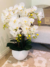 Load image into Gallery viewer, Vicky Yao Faux Floral - Luxury Real Touch 6 Stems Orchid Flower Arrangement