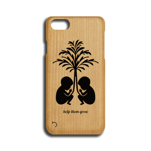 Open image in slideshow, Children - Help Them Grow - Case - iPhone - Wood
