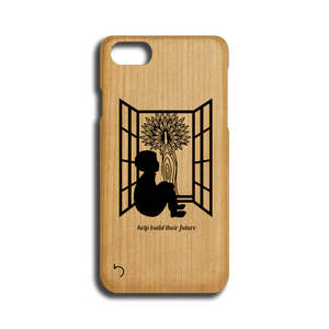 Open image in slideshow, Children - Help Build Their Future - Case - iPhone - Wood