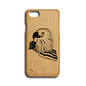 Open image in slideshow, Veterans - Let Freedom Reign - Case - iPhone - Wood