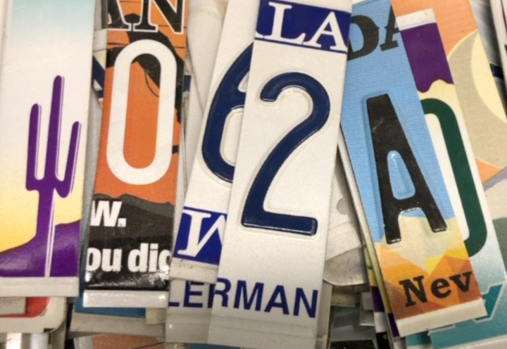 How to Cut License Plates for Letters and Numbers