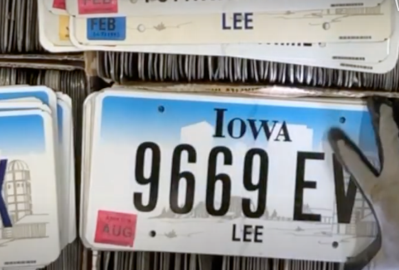 Sorting Iowa Farm Base License Plates