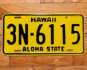 1969 Hawaii License Plate