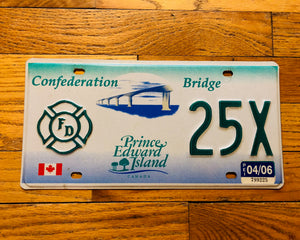 Prince Edward Island Fire Department License Plate