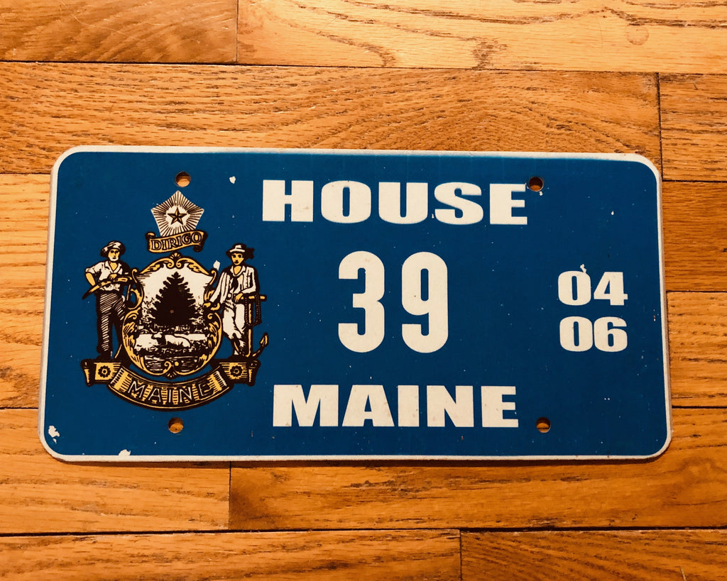 Maine Legislature House License Plate