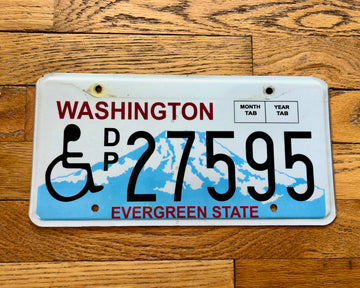 Washington State Disabled Person License Plate