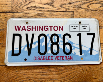 Washington State Disabled Veteran License Plate