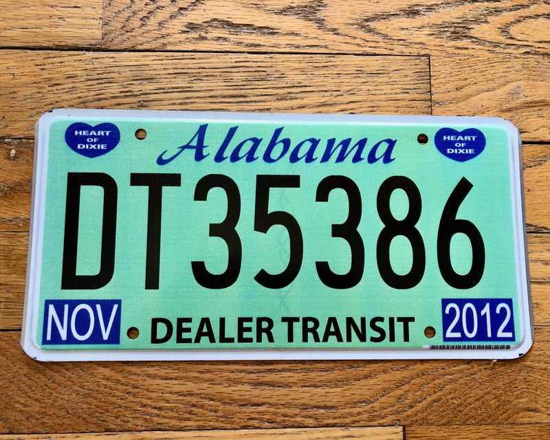 Alabama Deal Transit License Plate