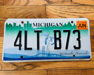 Michigan Spectacular Peninsulas License Plate