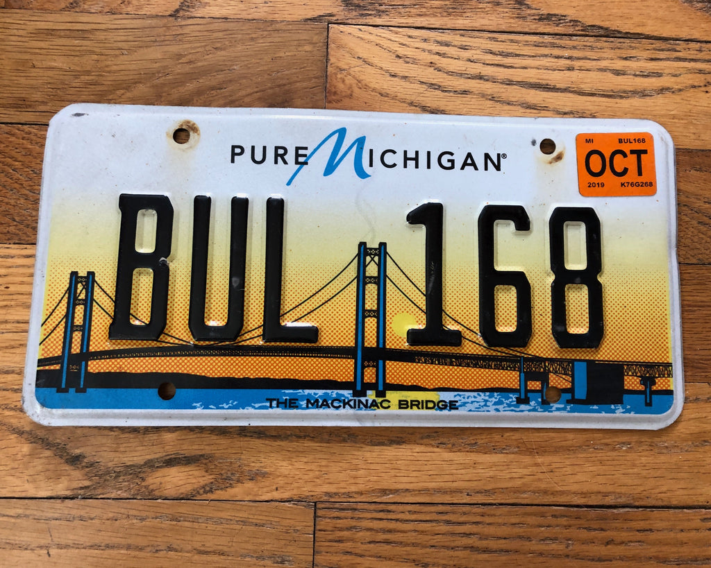 Michigan Mackinac Bridge License Plate