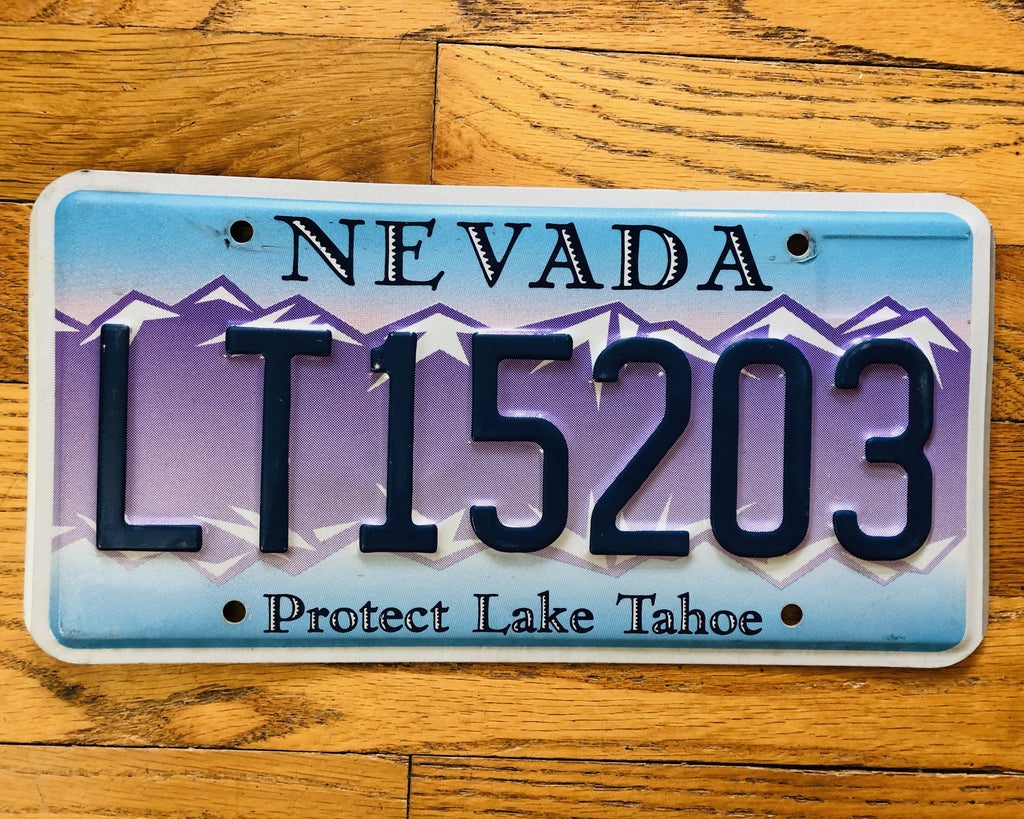 "Embossed Nevada ""Protect Lake Tahoe"" License Plate"