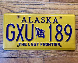 "Alaska ""The Last Frontier"" License Plate"