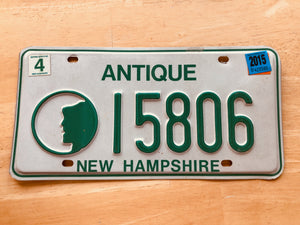 New Hampshire Antique License Plate