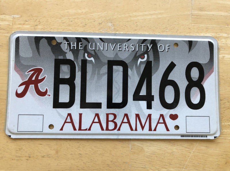 University of Alabama License Plate