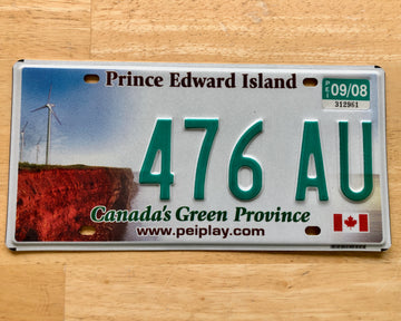 Canada License Plate from the Province of Prince Edward Island