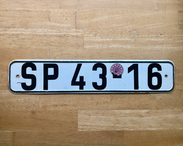 East German License Plate