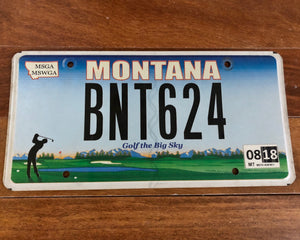 Montana Golf The Big Sky License Plate