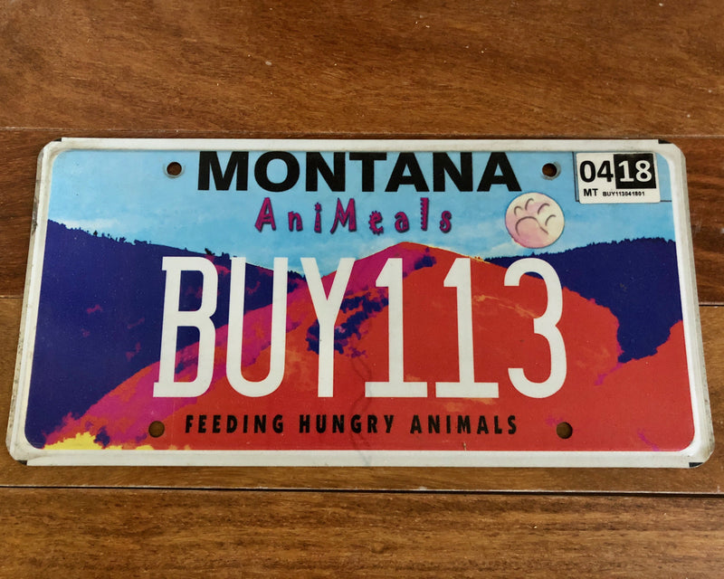 Montana Feeding Hungry Animals License Plate