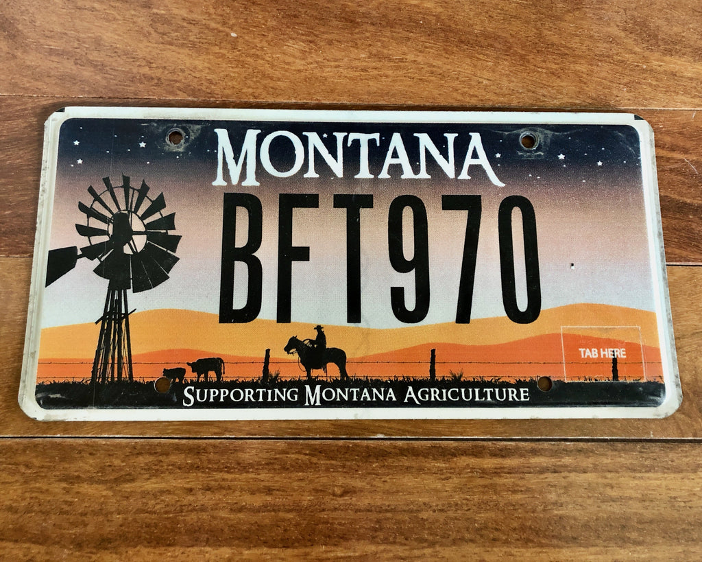 Montana Supporting Agriculture License Plate