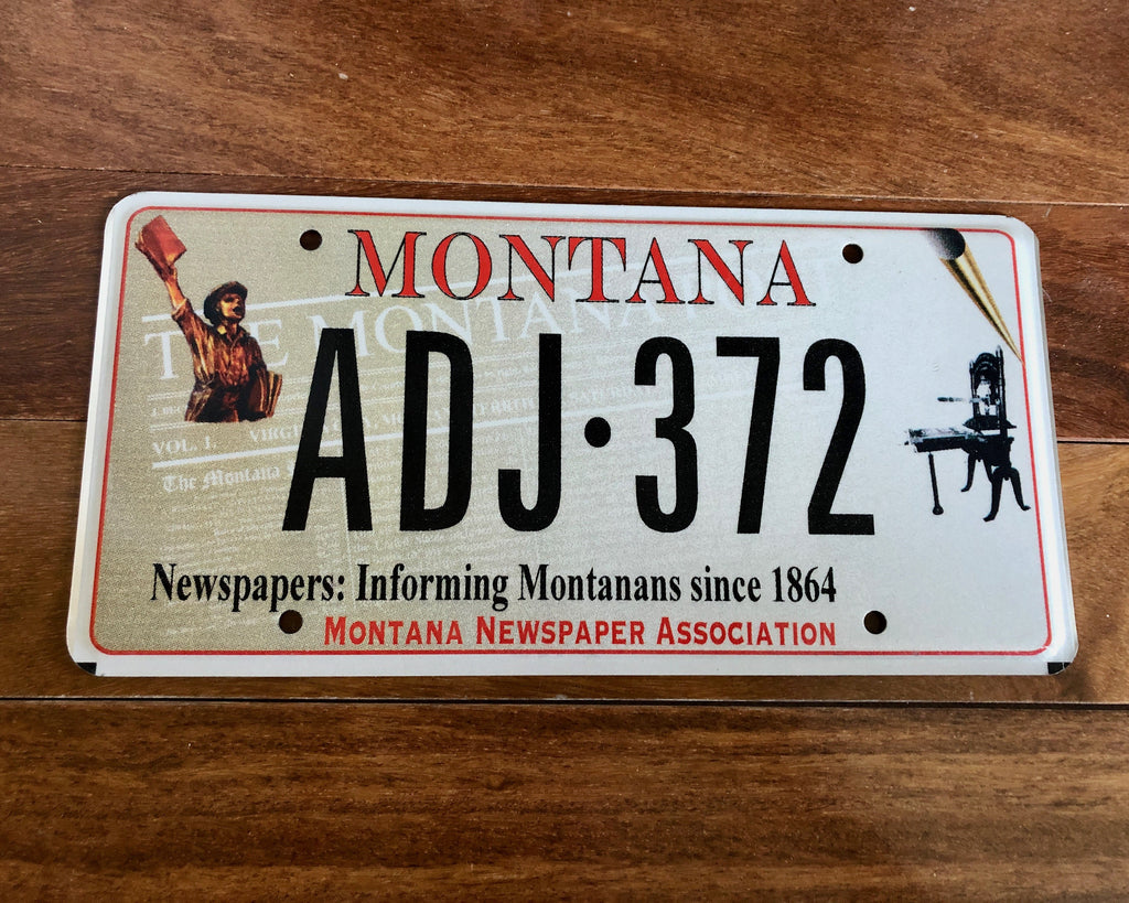 Montana Newspapers License Plate