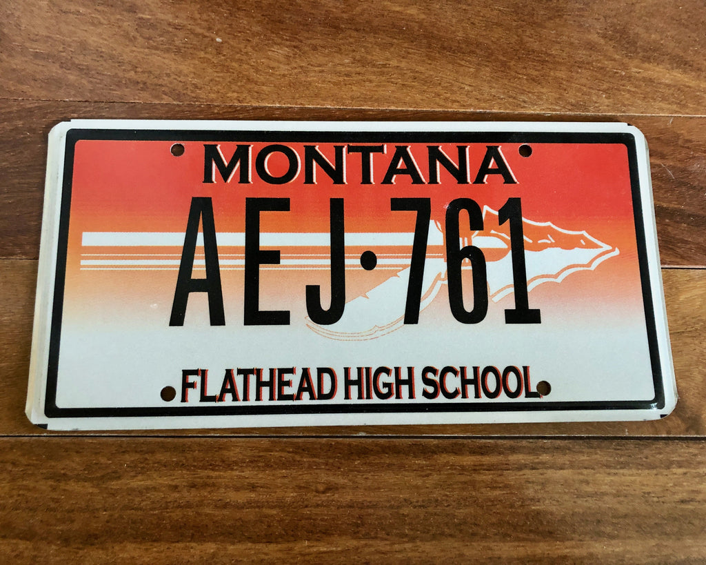 Montana Flathead High School License Plate