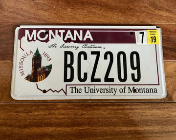 2019 University of Montana License Plate