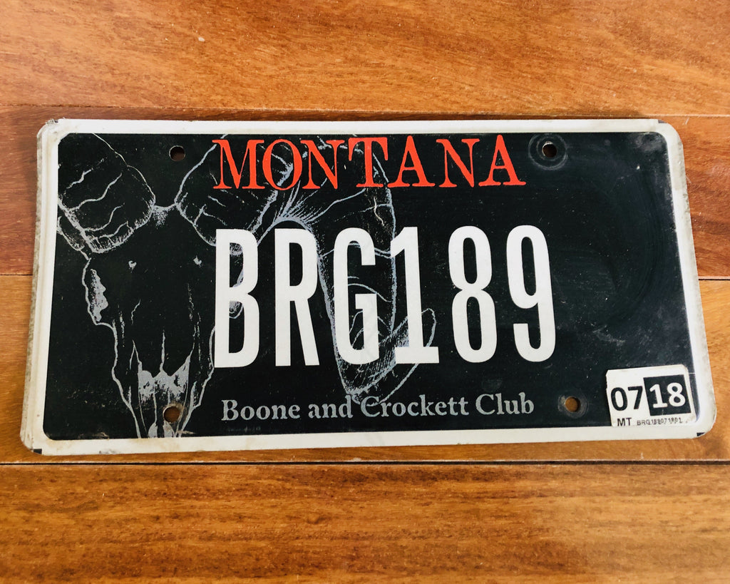 Montana Boone and Crockett Club License Plate