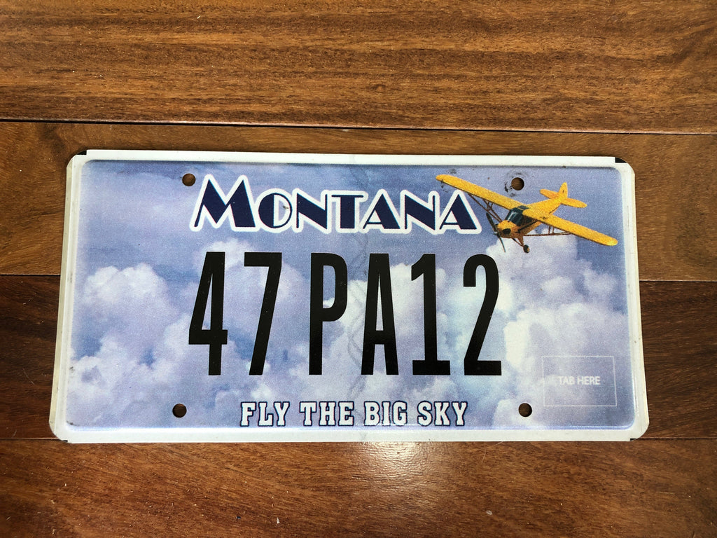 Montana Fly the Big Sky License Plate