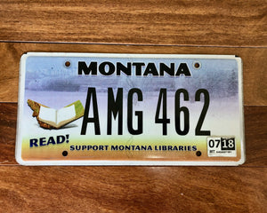 Montana Read/Support Montana Libraries License Plate