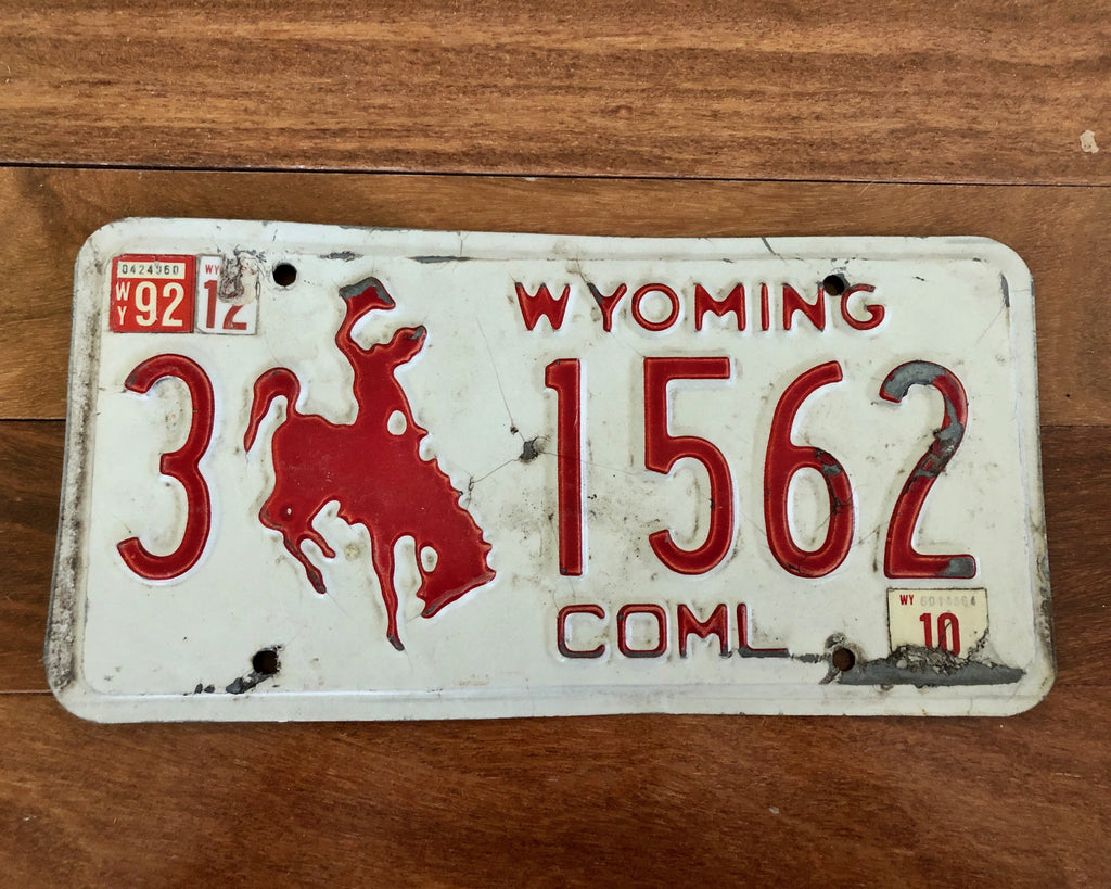 1992 Wyoming Bucking Bronco License Plate
