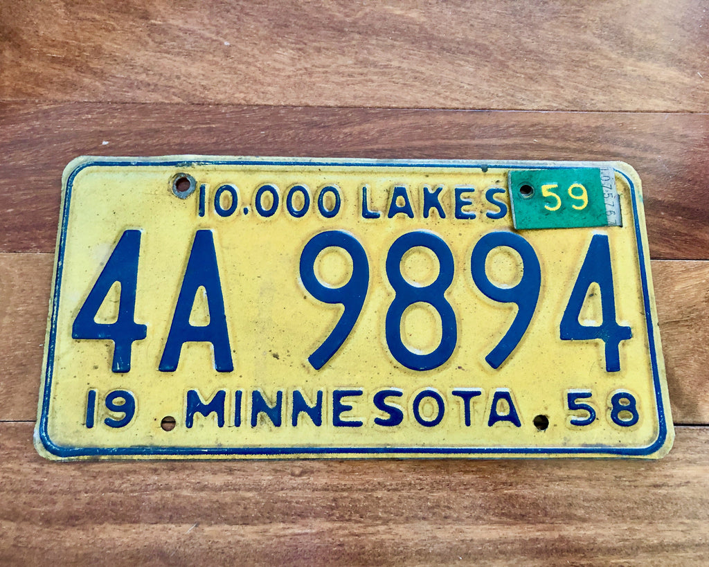 1958/1959 Minnesota License Plate