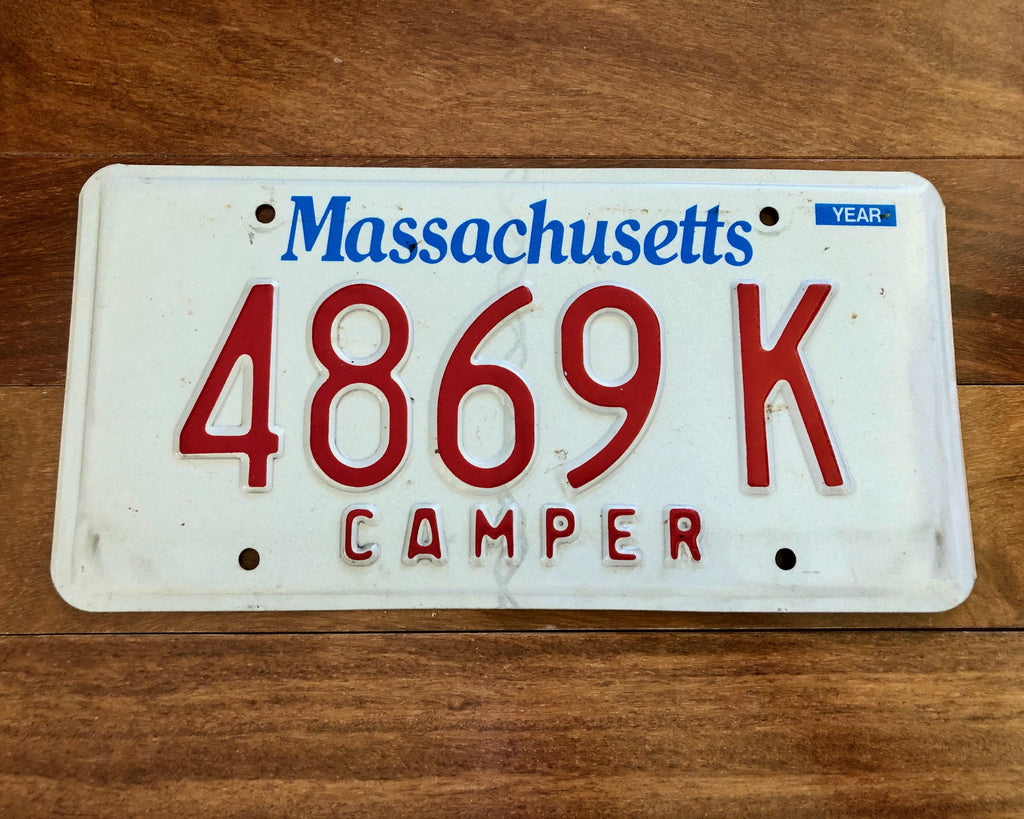 Massachusetts Camper License Plate