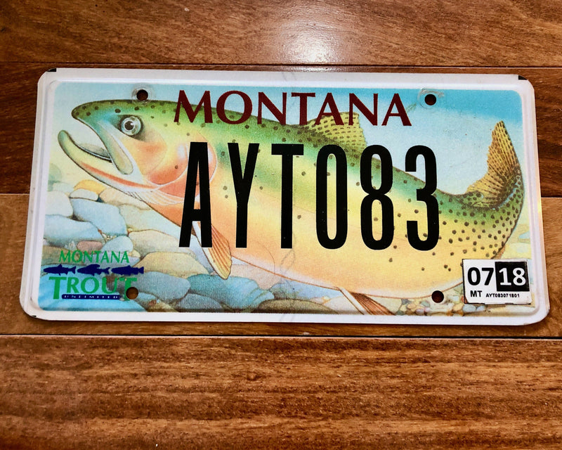Montana Trout Unlimited License Plate