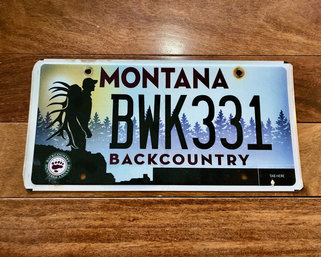Montana Backcountry License Plate