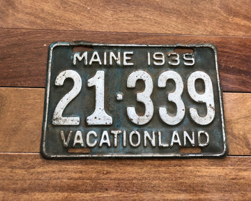 1939 Maine License Plate
