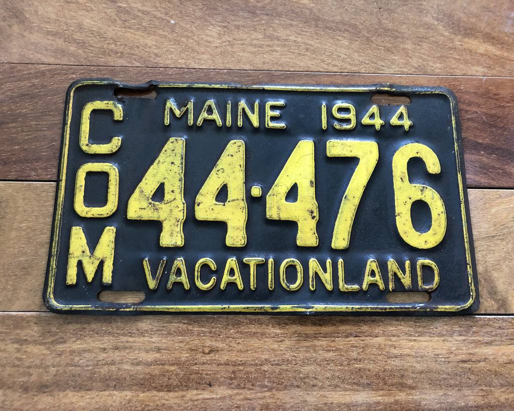 1944 Maine License Plate