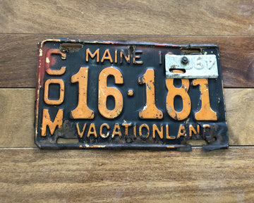 1948/1949 Maine License Plate