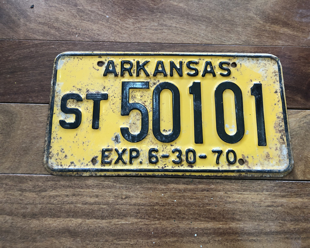 1970 Arkansas License Plate
