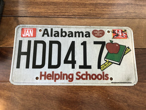 2014 Alabama Helping Schools License Plate