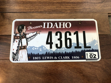 2017 Idaho Lewis & Clark License Plate