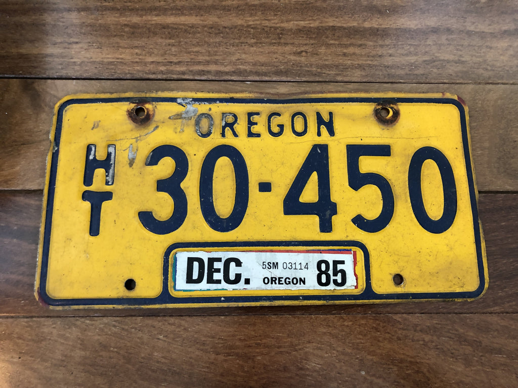 1985 Oregon License Plate