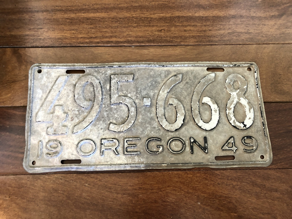 1949 Oregon License Plate