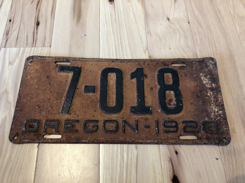 1928 Oregon License Plate